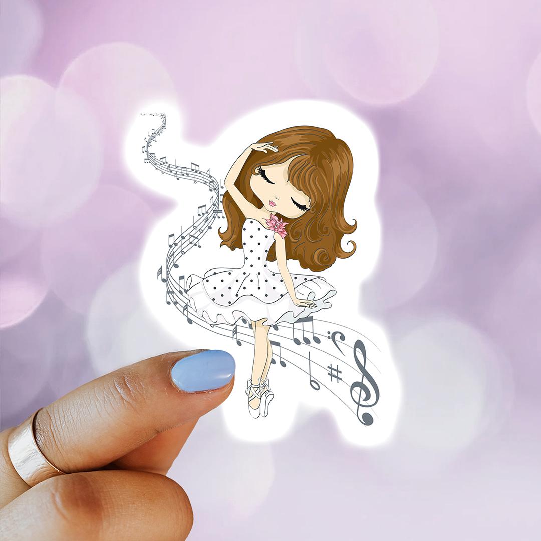 SilverZin Designs Girl dancing sticker